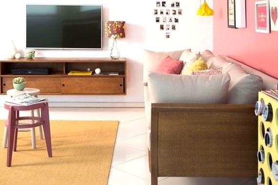 Sala de estar e sala de TV