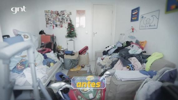 Antes e depois do quarto infantil do Santa Ajuda