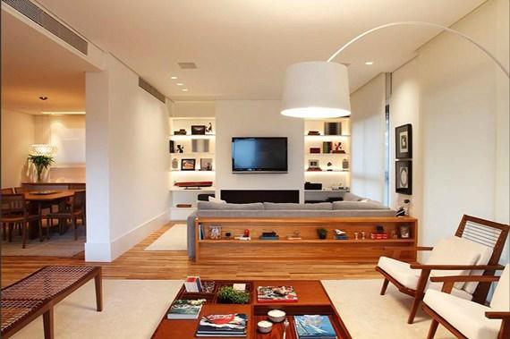 Móveis para decorar atrás do sofá
