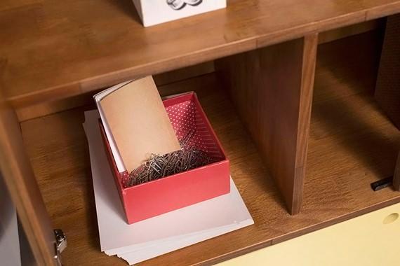 Caixa de papelão para organizar
