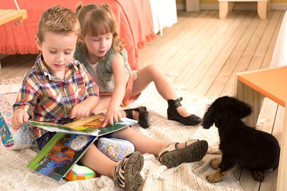 Cantinho de leitura para as crianças