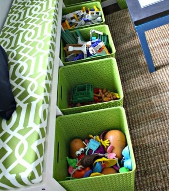 Cestos para organizar brinquedos