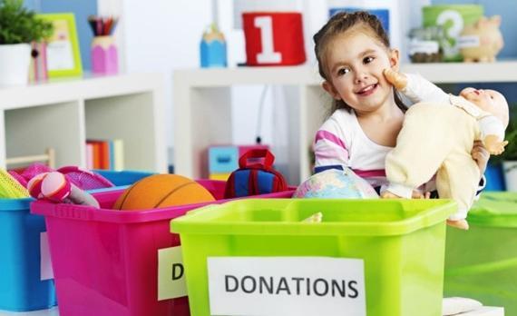 Organize o brinquedo das crianças