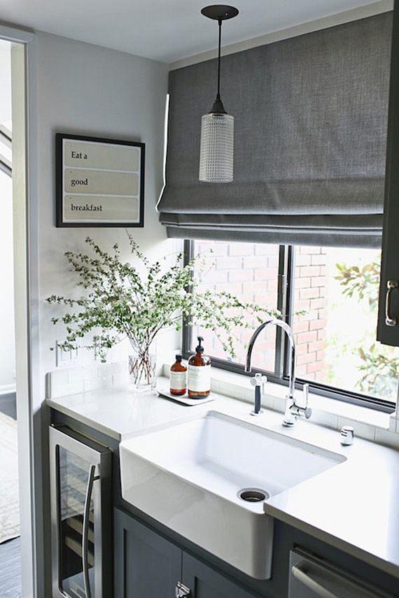 Modelo de cortina para a cozinha
