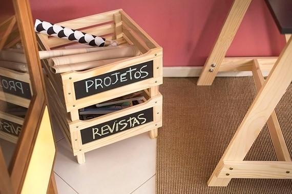Caixas organizadoras para escritório