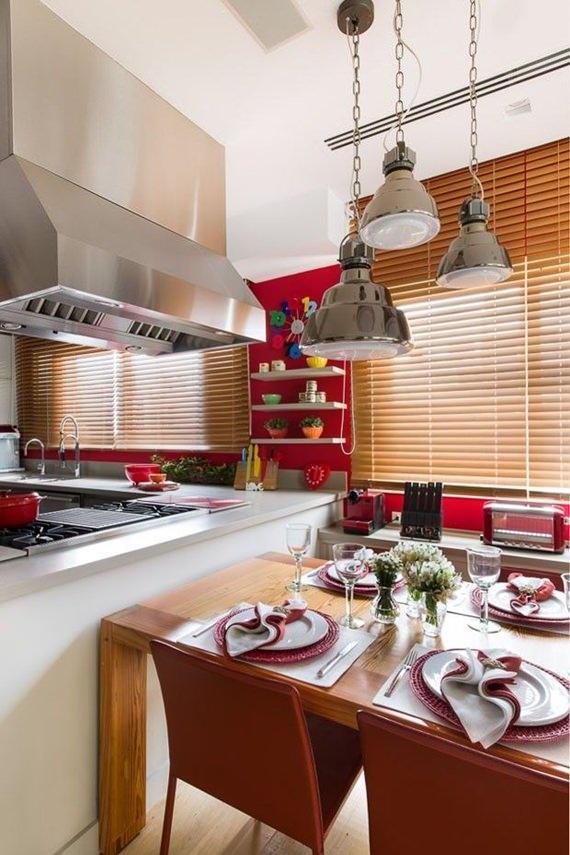 Persiana de madeira para cozinha