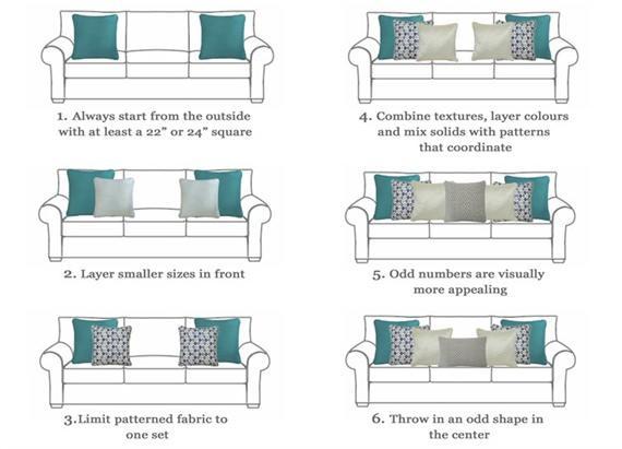Como fazer a disposição das almofadas
