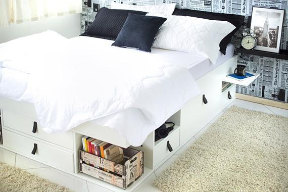 Decoração de quarto de casal moderno