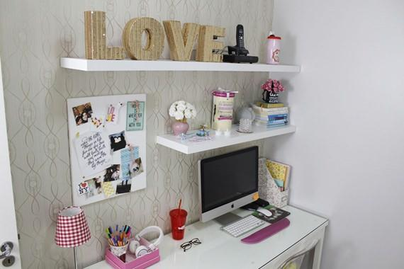 Home office feminino e delicado