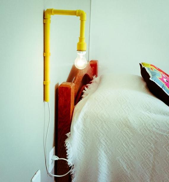 Luminária de cano de PVC