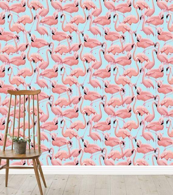 Papel de parede de flamingo