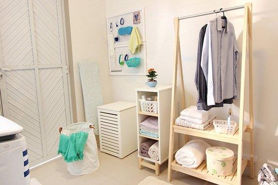 Arara na lavanderia